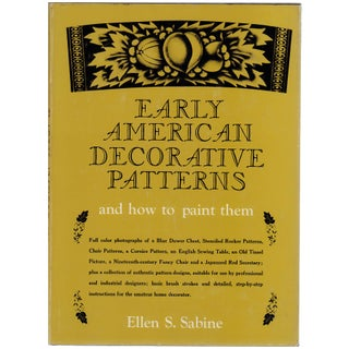 """""""Early American Decorative Patterns"""" Book by Ellen S. Sabine"""