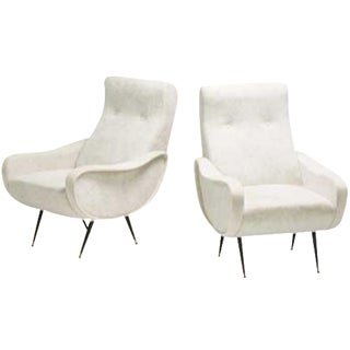 Marco Zanuso Style Lady Chairs - Pair