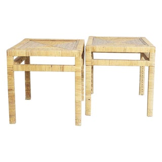 Wrapped Side Tables - A Pair