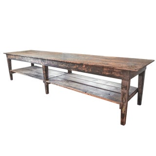 Long Work Table