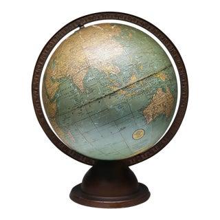 1920-1930s World Globe on Metal Stand