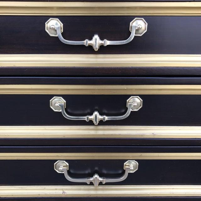 Image of Widdicomb Brass Trim Nightstands - a Pair