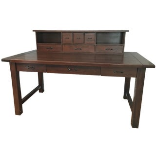 Pottery Barn Desk with Hutch