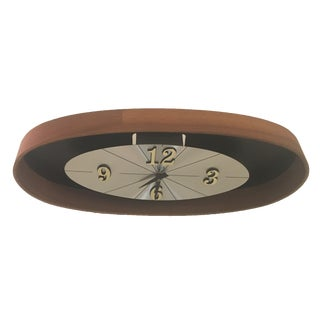Mid Century Walnut Bentwood Wall Clock