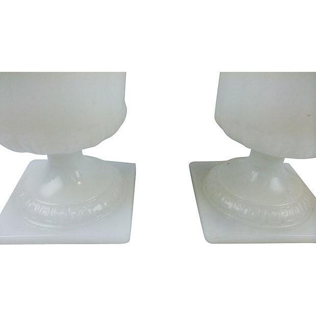 Image of Milk Glass Coupes - a Pair