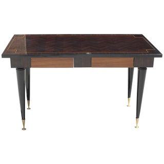 French Art Deco Exotic Macassar Ebony Writing Desk