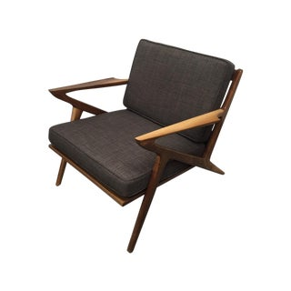 "Mid-Century Walnut ""Z"" Chair"