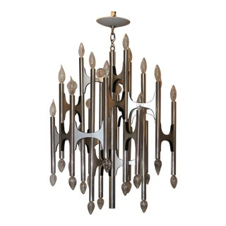 1960's Gaetano Sciolari 36 Lights Chandelier