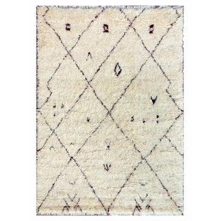 "Moroccan Lamb's Wool Area Rug - 6' 7"" X 9'10"""