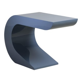 A Juniper Lacquered Cantilevered Console Table 1970s