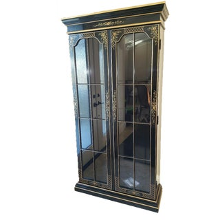 Black Lacquer Display Cabinet
