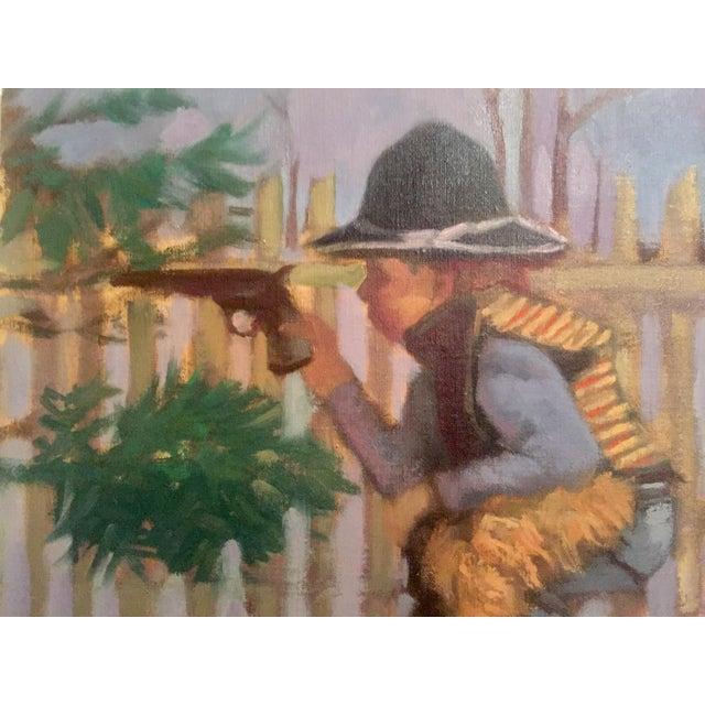"Mark Pullen ""Little Boy"" Original Oil Painting - Image 4 of 6"