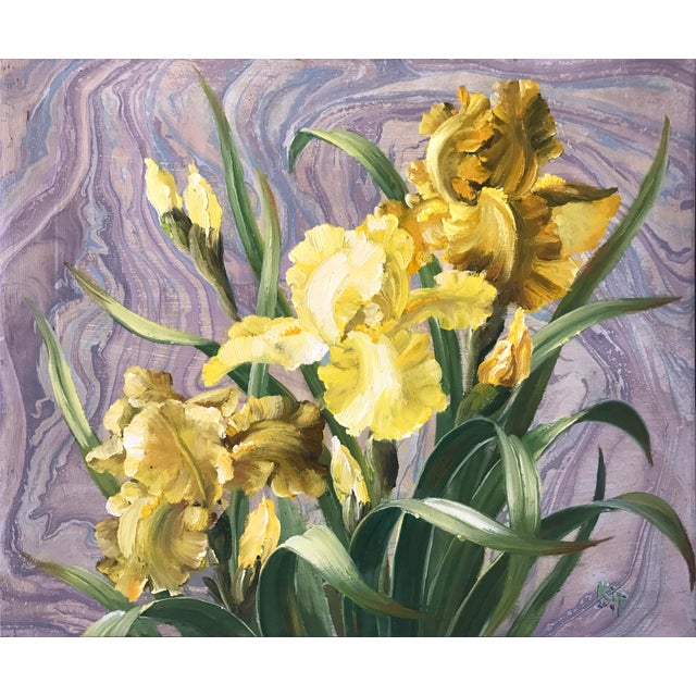 Framed Daffodils Oil Painting - Image 2 of 5
