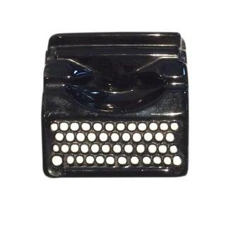 Vintage Black Ceramic Typewriter Ash Tray