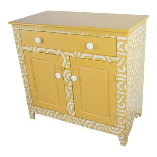 Yellow Patterned Pine Dresser