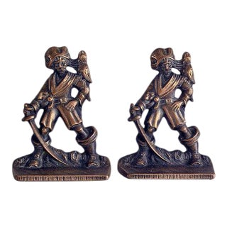 1920s Cast Iron Pirate Bookends - A Pair