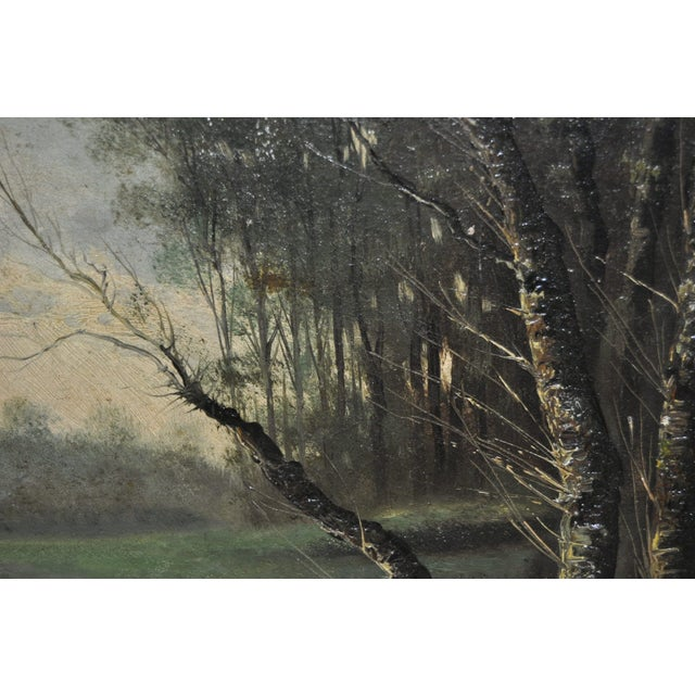19th Century Forested Landscape Oil Painting - Image 7 of 8
