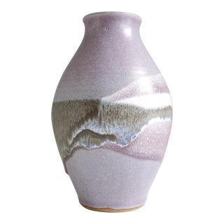 Vintage Purple Ceramic Studio Pottery Vase