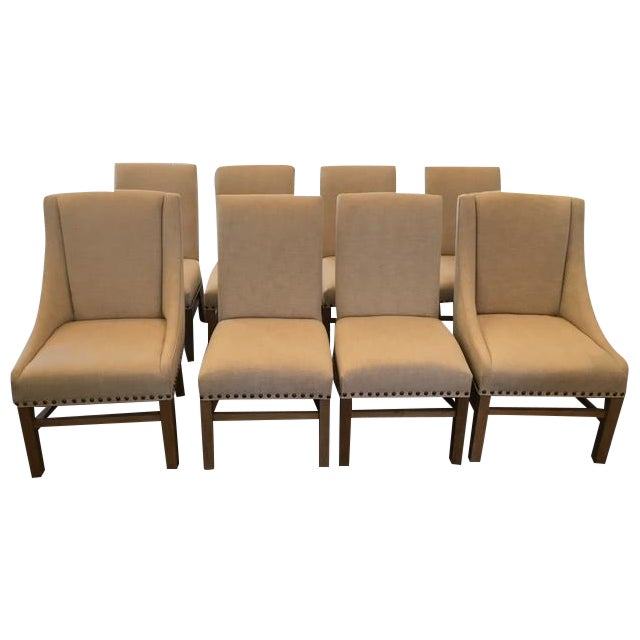 restoration hardware dining chairs set of 8 chairish. Black Bedroom Furniture Sets. Home Design Ideas