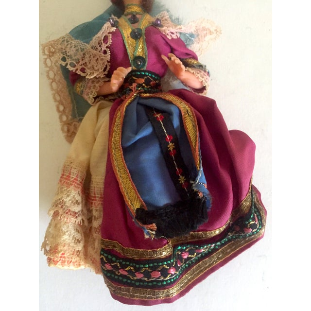 1950's Vintage Handcrafted Spanish Gypsy Souvenir Dolls- Set of 3 - Image 8 of 11