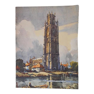 """Vintage Lithograph-England-View 16""""x12"""""""