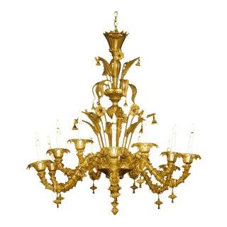 Venetian-Murano Glass Chandelier