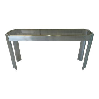 Aluminum & Brass Sofa Table