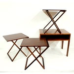 Image of Rosewood Illum Wikkelso Danish Folding Tables Set