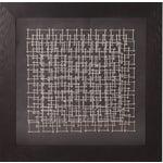 Image of Abstract Silver Nail Wall Art Pieces - A Pair