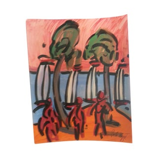 Peter Keil Abstract Beach Scene Painting