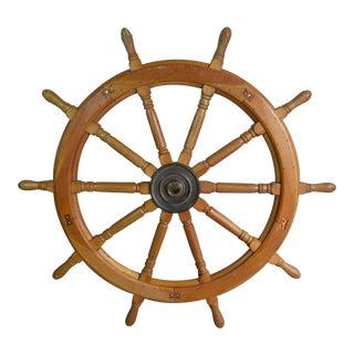 Vintage Huge Ship Wheel