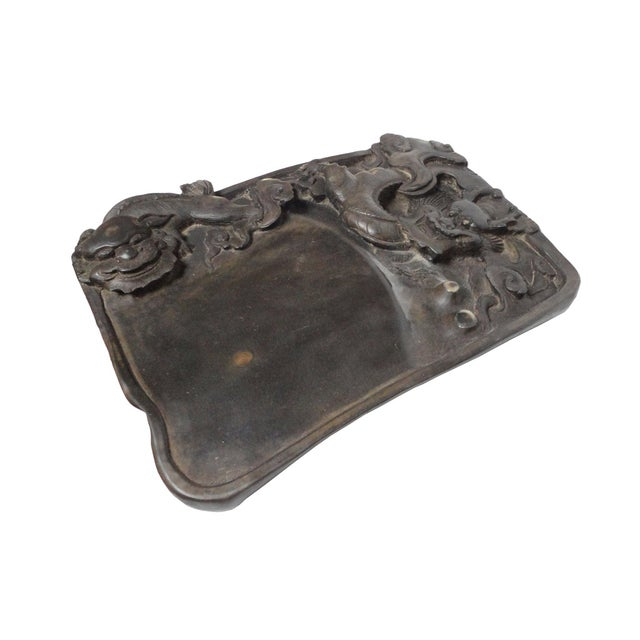 Chinese Inkstone Dragon Sculpture Calligraphy Tool - Image 2 of 6