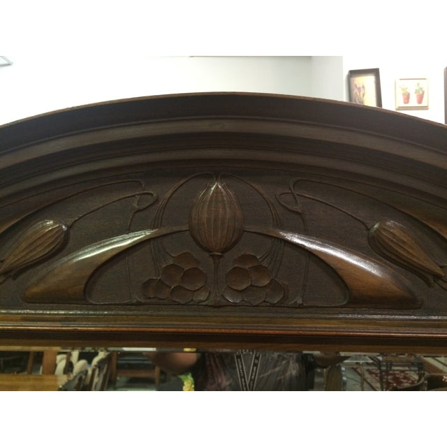 Antique Hand-Carved Buffet & Mirror - Image 8 of 10