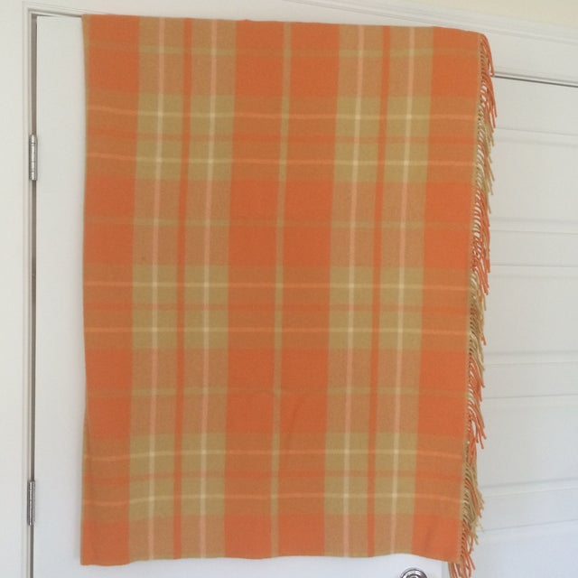 Orange Wool Blanket from London - Image 2 of 8