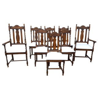 Barley Twist Dining Chairs - Set of 8