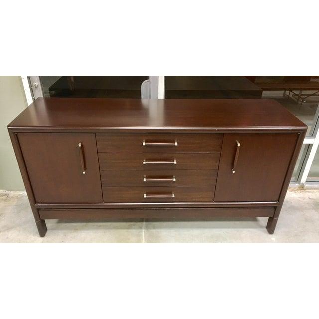Brown Saltman Mid-Century Dresser Buffet Credenza - Image 2 of 11