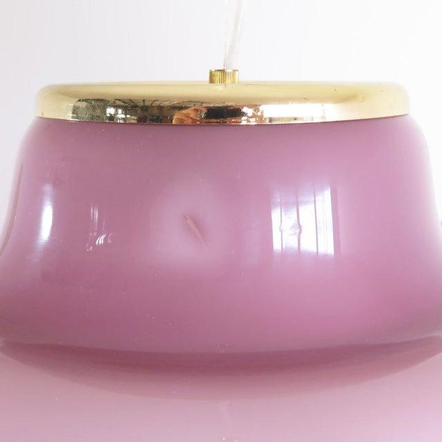 Lilac Murano Glass Italian Pendant Lamp - Image 3 of 3