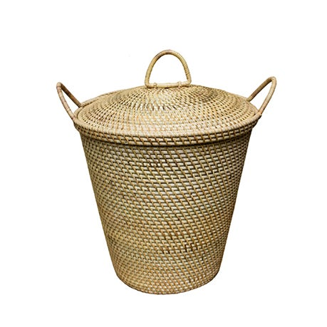 Image of Rattan Basket With Dainty Handles & Top