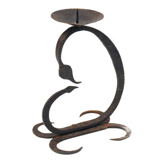 Wrought Iron Single Candle Holder