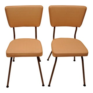 Defco of Detroit Mid-Century Modern Vintage Dining Chairs - Pair