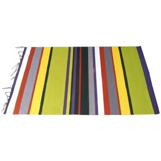 Hand Painted Striped Canvas Backdrop Wall Decor