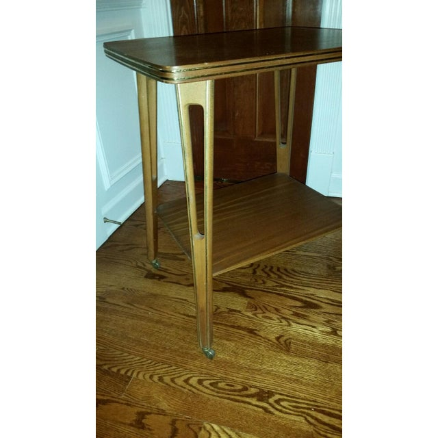 Mid-Century Modern Rolling Side Table - Image 4 of 5