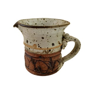 Tribal Boho Studio Pottery Pitcher