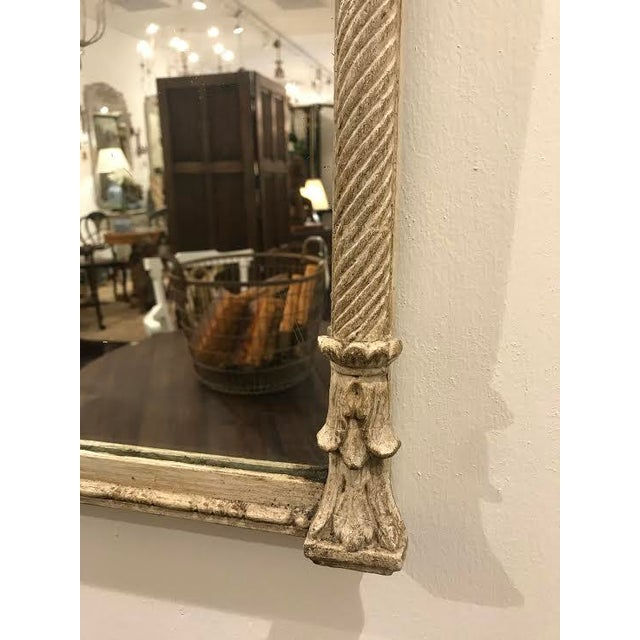19th Century French Carved Swag and Tassel Mirror - Image 3 of 7