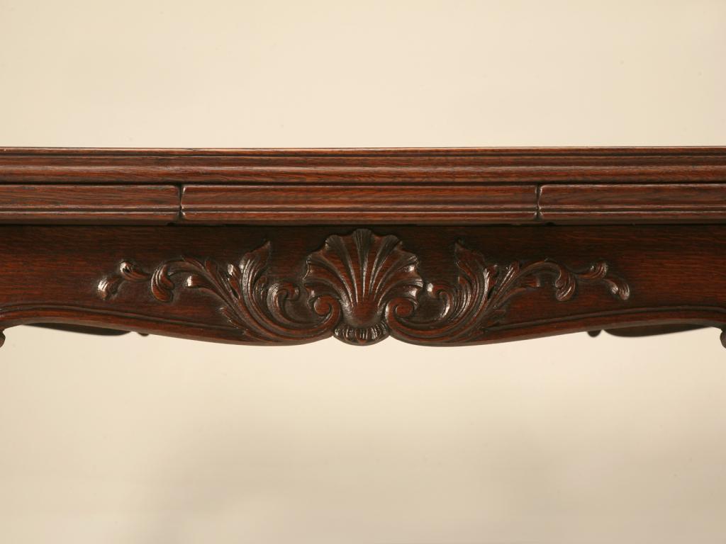 Exceptional Antique Italian Louis XV Oak U0026 Walnut Draw Leaf Table   Image 4 Of 10