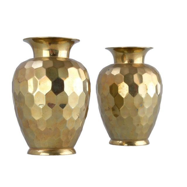 Decorative Brass Vases - Pair - Image 7 of 7