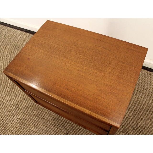 Mid-Century Danish Modern 2-Drawer Walnut Nightstand/End ...