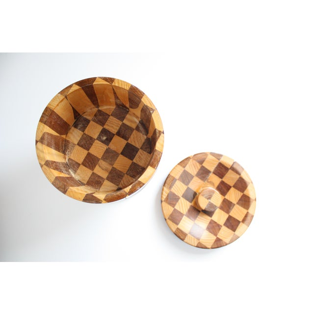 Lidded Wooden Pedestal Bowl - Image 6 of 10