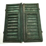 Image of Vintage French Louvered Shutters - A Pair