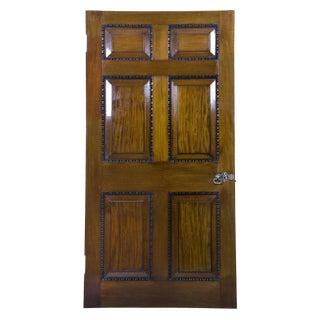 Pair of Mahogany Chippendale Interior Doors with Original Paktong Hardware
